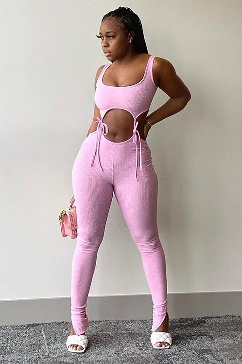 2020 New Bandage Two Piece Set Women Fitness Sleeveless Crop Top Leggings