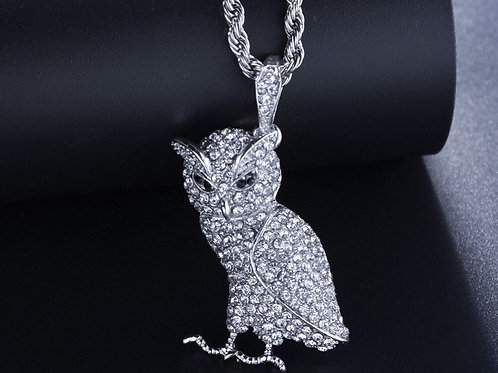 New Classic Owls Pendant Necklace Micro Full Copper Alloy Jewelry