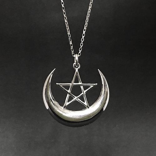 Pingente Pentagrama Lua