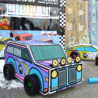 Wheelies color+Play set