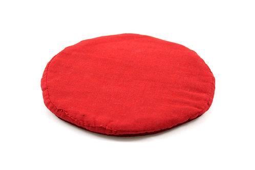 Support plat pour bol Tibétain - rond rouge 15x1 cm