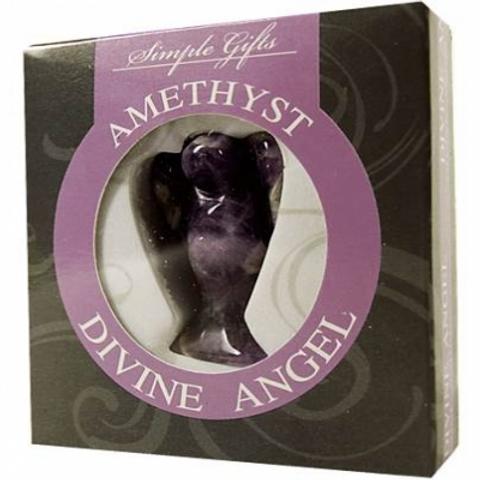 Ange Amethyste zébrée en paquet cadeau