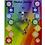 Thumbnail: Pendentif cœur 7 Chakras laiton argenté - 3x3 cm