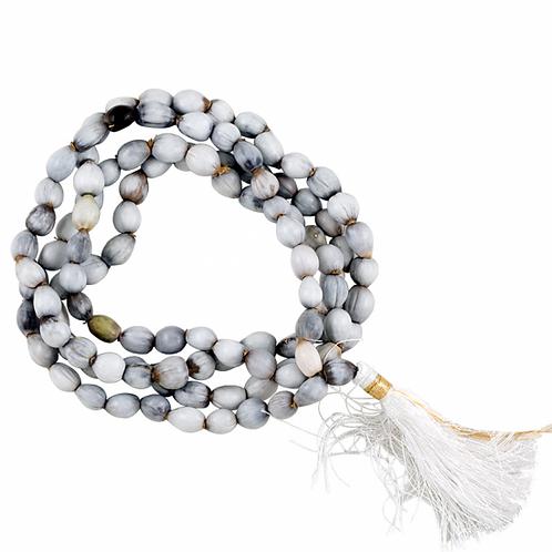 Mala graine de Lotus 108 perles avec noeud et sac en brocart