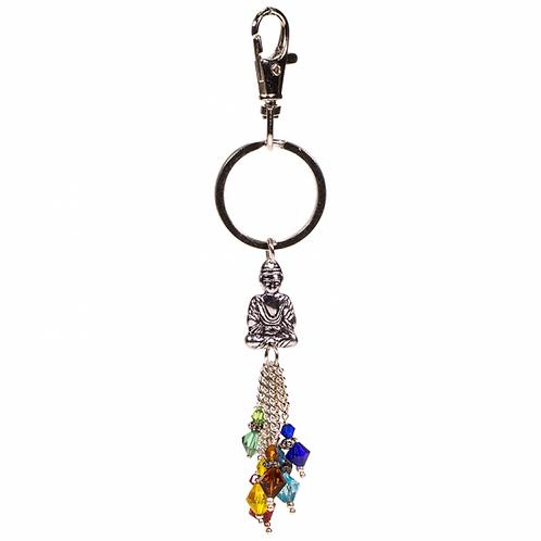 Porte-clés chakra bouddha - 14 cm
