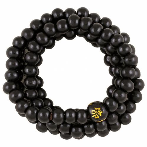 Mala bois - 108 perles - noir