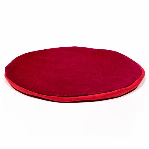 Support plat pour Bol Tibétain - rond rouge 20X1cm