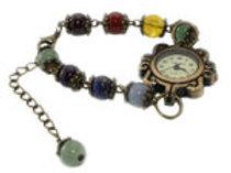 Montre Bracelet Bijoux 7 Chakras Pierre Boule de 8 mm (Livrée dans une boite)