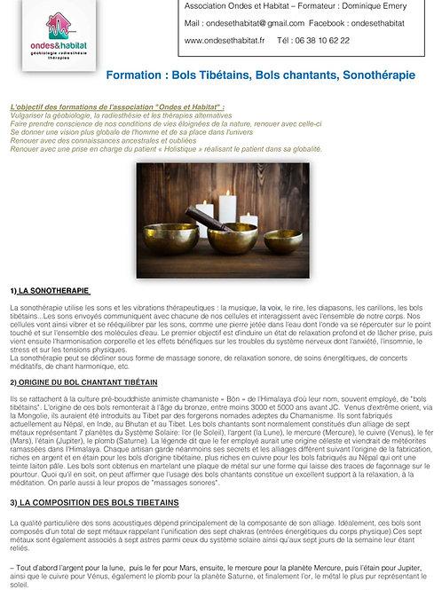 Formation Complète Bols Tibétains Chantants à télécharger PDF