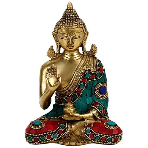 Bouddha mudra enseignement - 16 cm