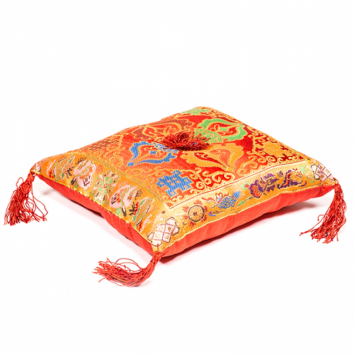 Coussin rouge double Dorge pour bol tibétain - 20x20cm