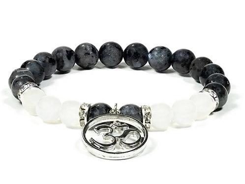 Bracelet Labradorite Agate blanche
