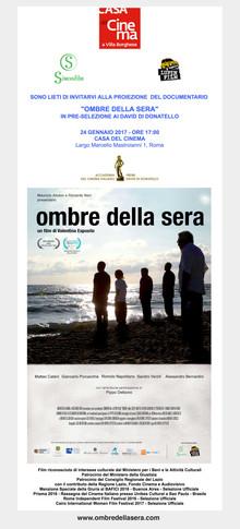 Proiezione Speciale per i Giurati dei David di Donatello 2017 alla Casa del Cinema