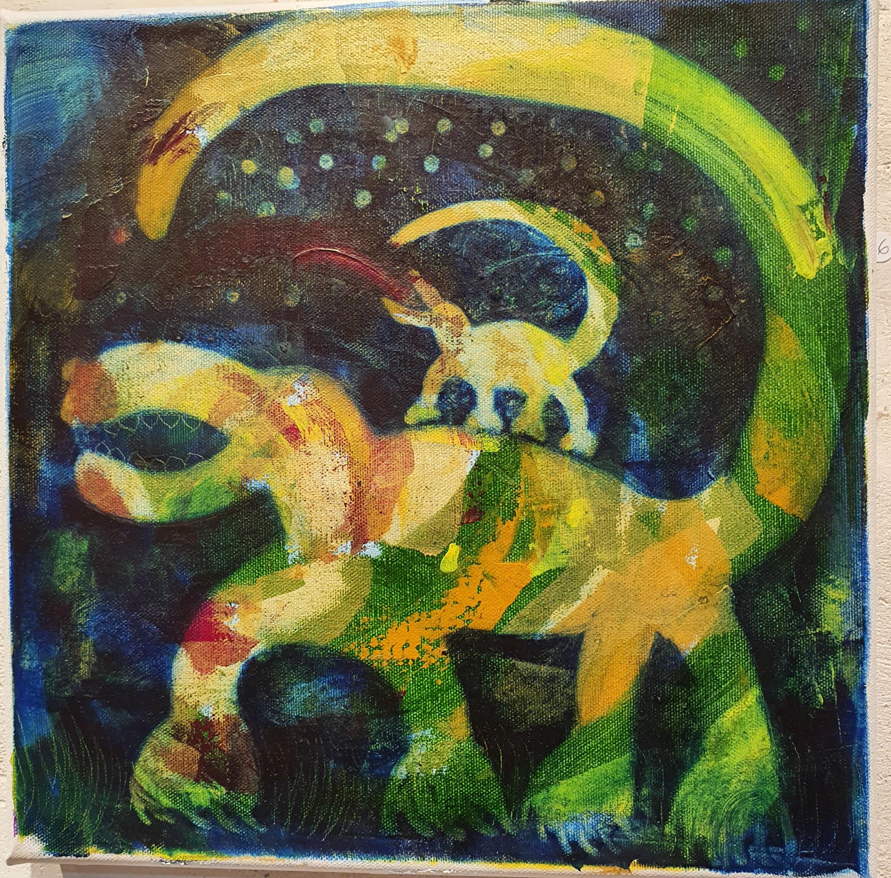Saurus med tuff babysaurus