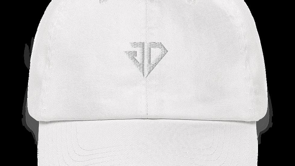 JDiggs White logo Dad Hat