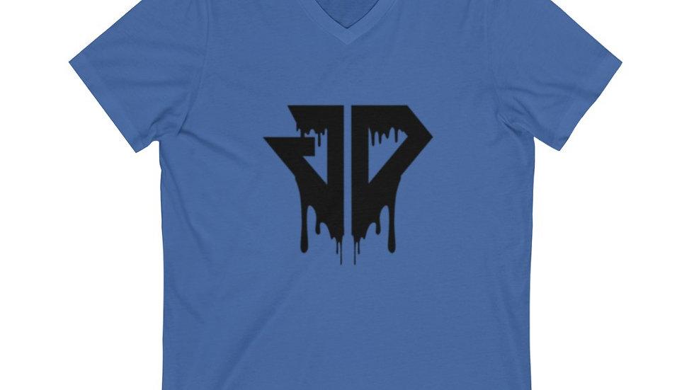 Black Drip Logo Short Sleeve V-Neck Tee