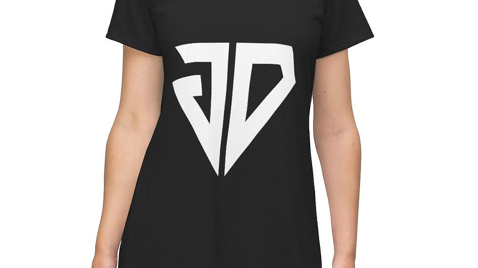 Logo T-Shirt Dress (Black)