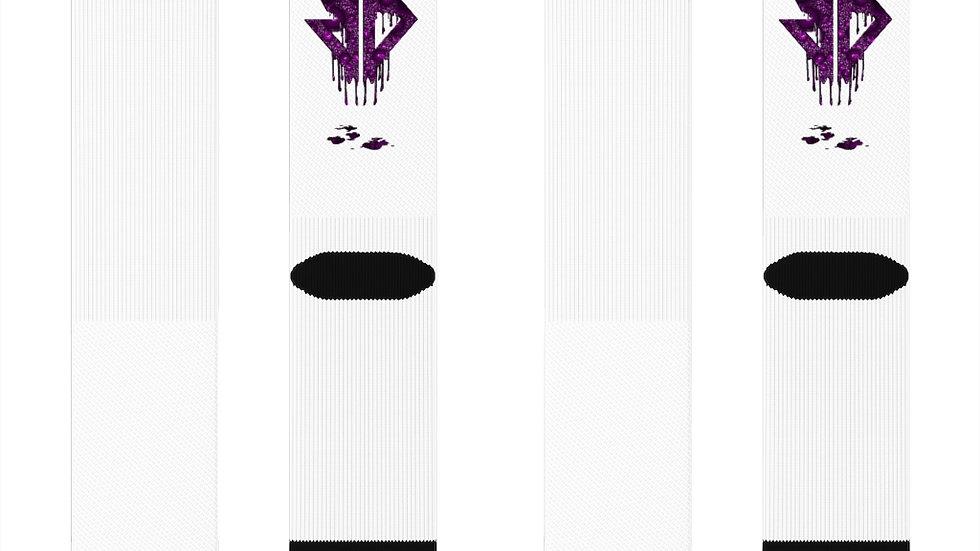 Purple Drip Logo Sublimation Socks