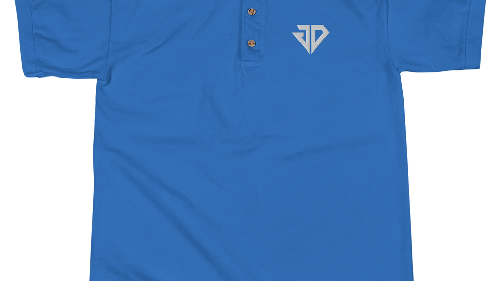 Jdiggs White Logo Polo Shirt