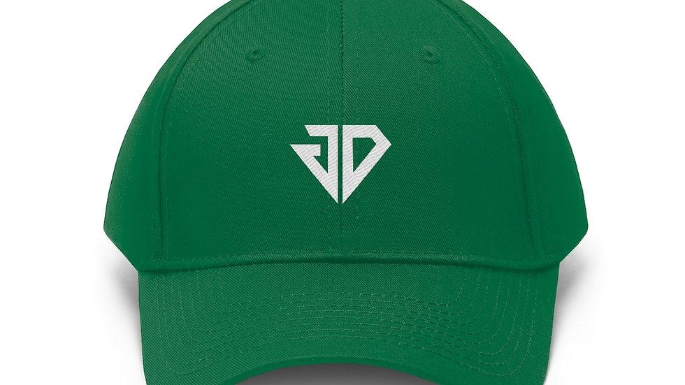 White Logo Unisex Twill Hat
