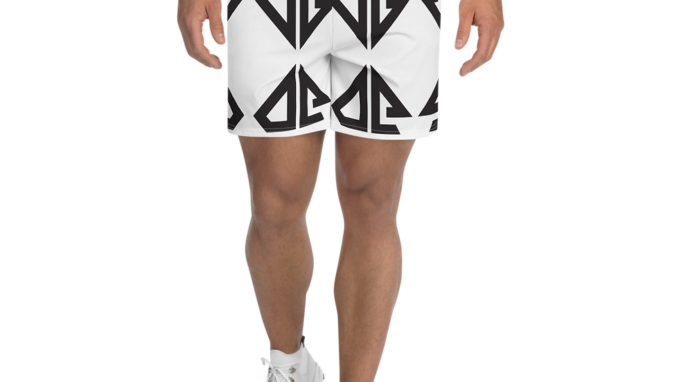 JD White Logo Men's Athletic Long Shorts