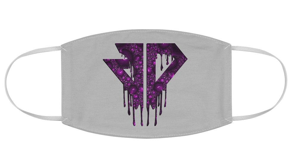 JD Purple Drip Fabric Face Mask