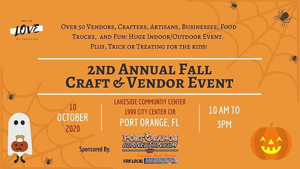 2nd Annual Fall Craft & Vendor event cov