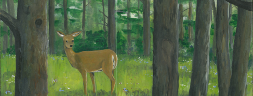 Forest Clearing Card (Deer)