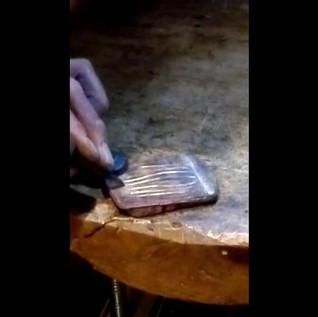 chiseling mokume