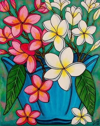 Franipani Sawadee, 40 x 50 cm, SOLD
