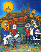 Basel Fasnacht/Carnival Memories, 40x50, SOLD