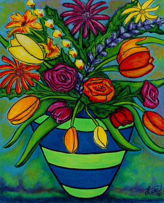 Funky Town Bouquet, 40 x 50 cm, SOLD