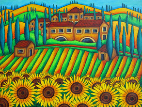 Colours of Tuscany, 60 x 80 cm, SOLD
