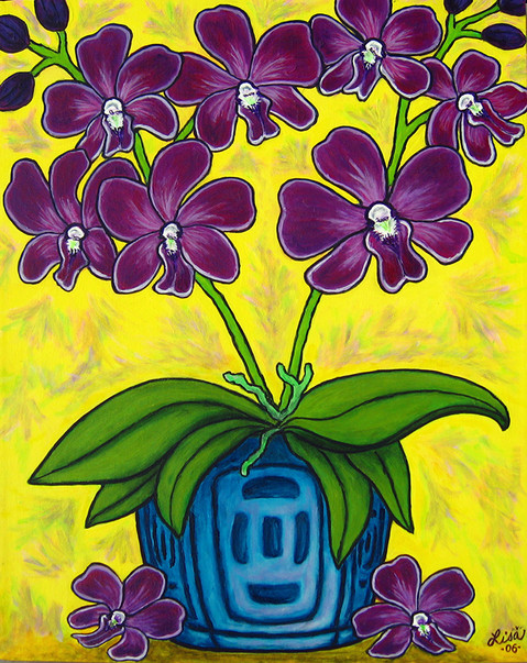 Orchid Delight, 40 x 50 cm, SOLD