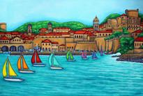 Dubrovnik Regatta, 60x80cm, SOLD