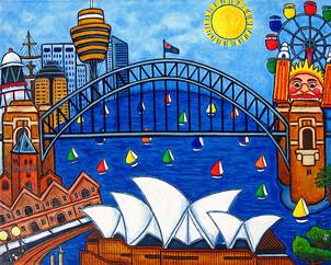 Sensationa Sydney, Australia, 40 x 50 cm, SOLD