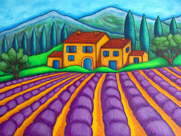 Colours of Provence, 60 x 80 cm
