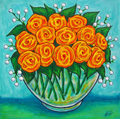 Orange Bowl, 40 x 40 cm, SOLD