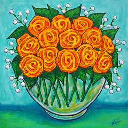 Orange Bowl, 40 x 40 cm, SOLD