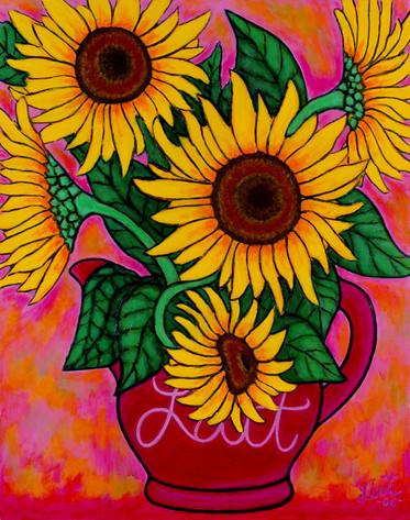 Satuday Sunflowers, 40 x 50 cm
