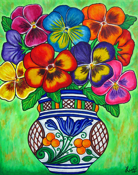 Pansy Parade, 40 x 50 cm, SOLD