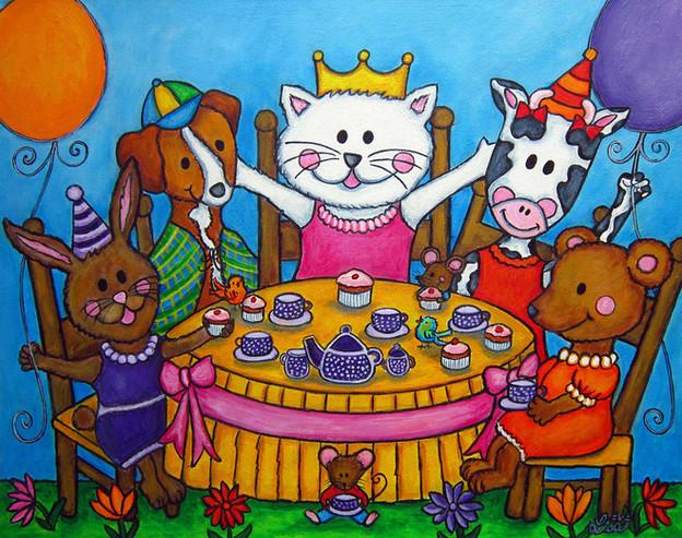 The Little Tea Party, 40 x 50 cm, SOLD