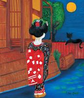 Midnight Geisha, 50x70cm, SOLD