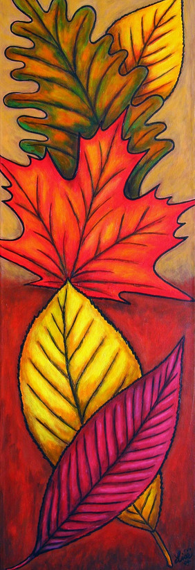 Autumn Glow, 30 x 90 cm, SOLD