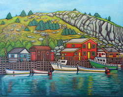 Colours of Quidi Vidi, Newfoundland, 40x50