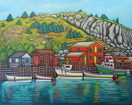 Colours of Quidi Vidi, Newfoundland, 40x50