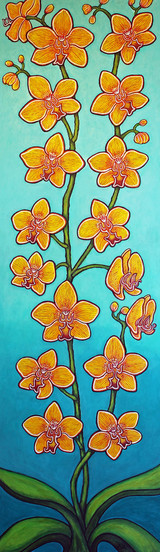 Orchid Sunset Bliss, 120 x 35 cm, Private Collection
