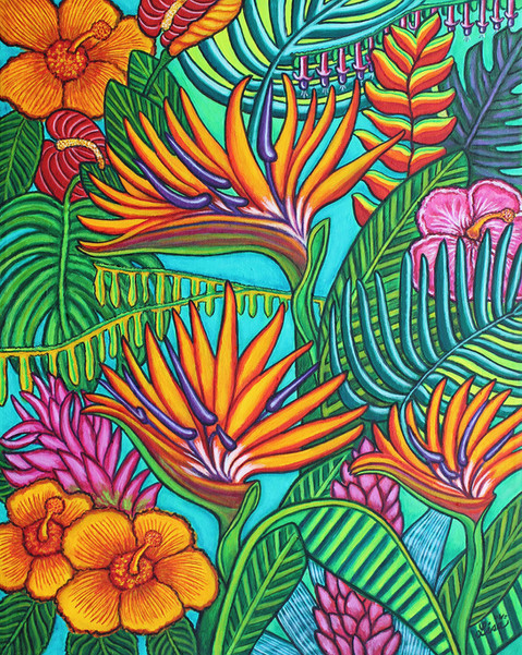 Tropical Gems, 40x50 cm