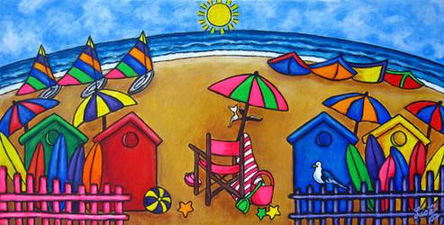Beach Colours, 20 x 40 cm, SOLD