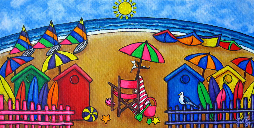 Beach Colours, 20 x 40 cm, SOLD